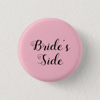 Bóton Redondo 2.54cm O botão lateral da noiva customizável