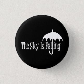 Bóton Redondo 2.54cm O céu é preto & branco de queda do guarda-chuva