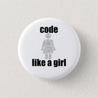 Bóton Redondo 2.54cm O código gosta de um botão da menina