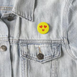 Bóton Redondo 2.54cm O coração do beijo do amor Eyes Emoji