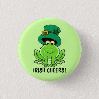 Bóton Redondo 2.54cm O dia de St Patrick irlandês engraçado do sapo dos
