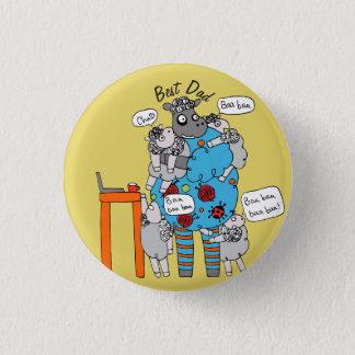 Bóton Redondo 2.54cm O melhor botão do Baa do Baa do pai nunca