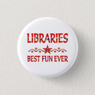 Bóton Redondo 2.54cm O melhor divertimento das bibliotecas
