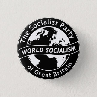 Bóton Redondo 2.54cm O Partido socialista do crachá de Grâ Bretanha