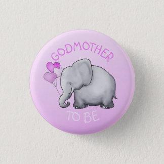 Bóton Redondo 2.54cm O rosa Balloons o elefante que o chá de fraldas