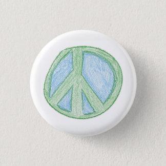 Bóton Redondo 2.54cm O símbolo de paz Spud perto