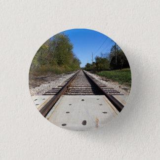 Bóton Redondo 2.54cm O trem de estrada de ferro segue a foto
