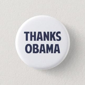 Bóton Redondo 2.54cm Obrigados Barack Obama