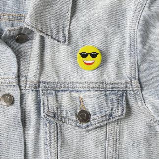 Bóton Redondo 2.54cm Óculos de sol legal Emoji