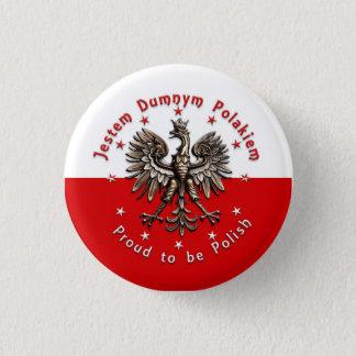 Bóton Redondo 2.54cm Orgulhoso ser polonês - botão
