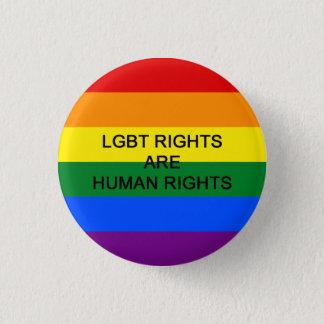 Bóton Redondo 2.54cm Os direitos de LGBT são crachá dos direitos