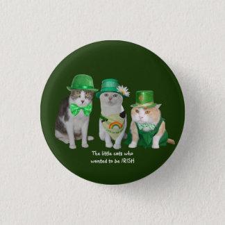 Bóton Redondo 2.54cm Os gatos pequenos que quiseram ser irlandeses