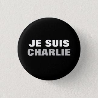 Bóton Redondo 2.54cm Ósmio de Je Suis Charlie