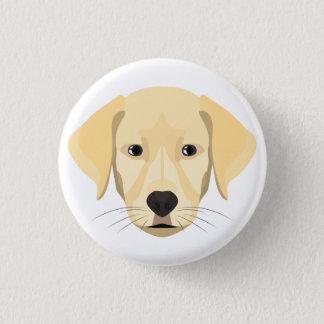 Bóton Redondo 2.54cm Ouro Retriver do filhote de cachorro da ilustração