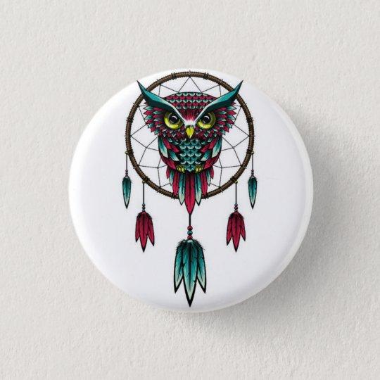 Bóton Redondo 2.54cm Owl dreamcatcher.