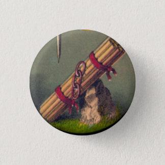 Bóton Redondo 2.54cm Pacote de varas e de três relações botão de 1