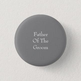 Bóton Redondo 2.54cm Pai cinzento do botão do noivo