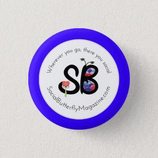 Bóton Redondo 2.54cm Pais de SBM & Pin do botão do logotipo do formando