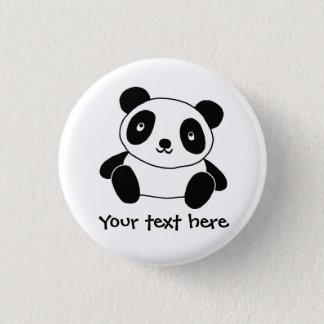 Bóton Redondo 2.54cm Panda bonito