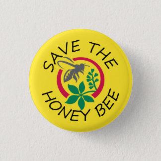 """Bóton Redondo 2.54cm Pequeno """"economias botão da abelha do mel"""""""