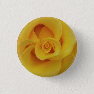 Bóton Redondo 2.54cm Pétalas cor-de-rosa amarelas românticas
