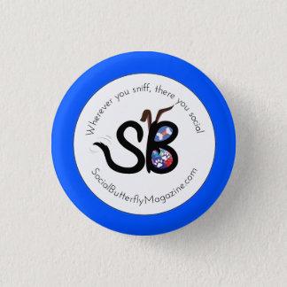 Bóton Redondo 2.54cm Pin animal social do botão dos pais & dos