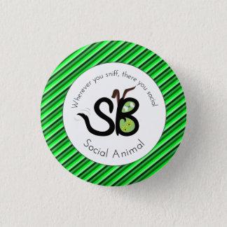 Bóton Redondo 2.54cm Pin animal social do dia de SBM St Patrick mini