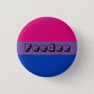 Bóton Redondo 2.54cm Pin bissexual de Feedee