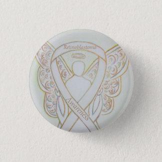 Bóton Redondo 2.54cm Pin branco do anjo da fita da consciência de