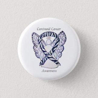 Bóton Redondo 2.54cm Pin Carcinoid do costume do anjo da fita da