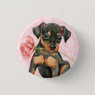 Bóton Redondo 2.54cm Pin cor-de-rosa do minuto dos namorados