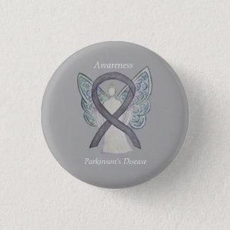 Bóton Redondo 2.54cm Pin da arte do anjo da fita da consciência da