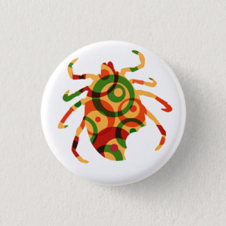 Bóton Redondo 2.54cm Pin da consciência da doença do tiquetaque