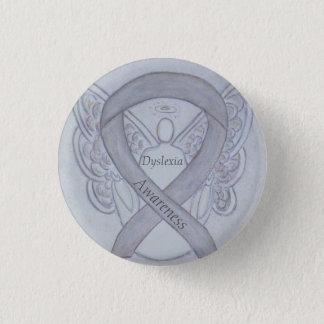 Bóton Redondo 2.54cm Pin de prata do costume do anjo da fita da