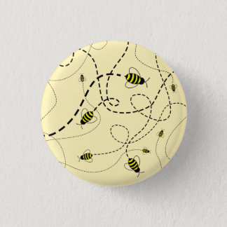 Bóton Redondo 2.54cm Pin de zumbido do botão da abelha de SBM mini