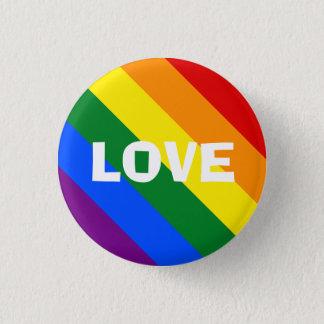 Bóton Redondo 2.54cm Pin do amor do arco-íris