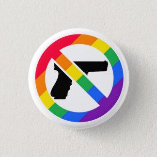 Bóton Redondo 2.54cm Pin do arco-íris da Anti-Arma LGBT