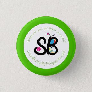 Bóton Redondo 2.54cm Pin do botão do logotipo do verão de SBM mini