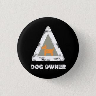 Bóton Redondo 2.54cm Pin do botão do proprietário do cão redondo