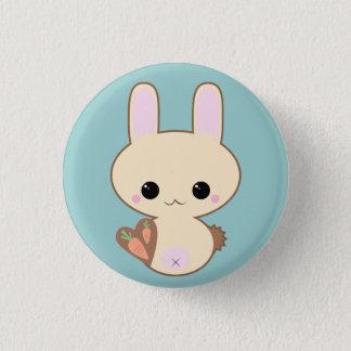 Bóton Redondo 2.54cm Pin do coelho de Kawaii Kokeshi