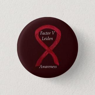 Bóton Redondo 2.54cm Pin do costume da fita da consciência do fator V
