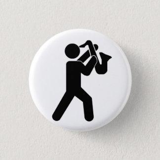 Bóton Redondo 2.54cm Pin do jogador de saxofone
