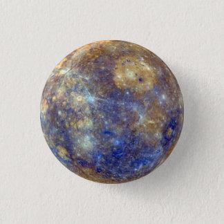 Bóton Redondo 2.54cm Pin do planeta de Mercury