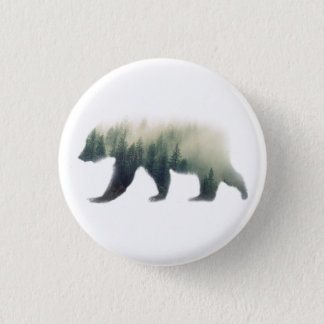 Bóton Redondo 2.54cm Pin do urso