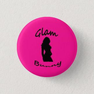 Bóton Redondo 2.54cm Pin Glam do logotipo do coelho
