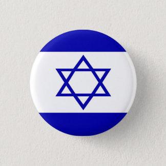 Bóton Redondo 2.54cm Pin israelita da bandeira