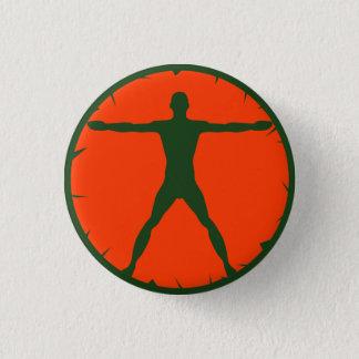Bóton Redondo 2.54cm Pin-Para trás redondo do homem de Vitruvian da