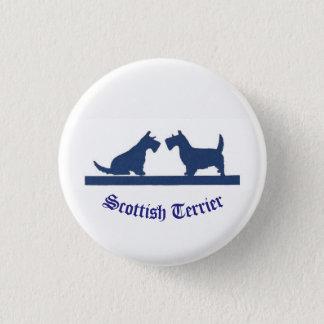 Bóton Redondo 2.54cm Pin pequeno com terrier escoceses