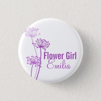 Bóton Redondo 2.54cm Pino/botão roxos do casamento da flor moderna do
