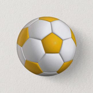 Bóton Redondo 2.54cm Pino da bola de futebol (futebol)/botão - ouro